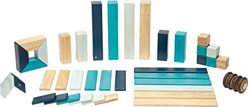 Tegu Juego de Bloques de Construcción de madera magnéticos de 42 piezas - Blues ,...