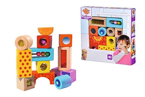 Eichhorn-100002240 Bloques de madera de colores con sonidos, Multicolor (100002240) ,...