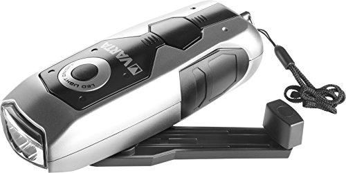 VARTA Dynamo Light LED Linterna, Negro, Gris