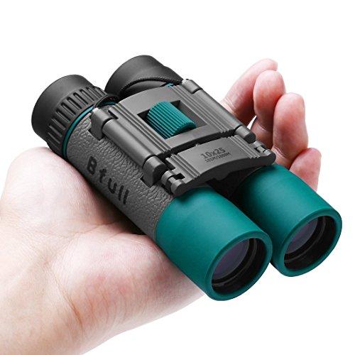 Prismáticos pequeños y potentes para Adultos y Niños, BFULL 10x25 Mini Prismaticos...