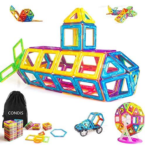 Condis 95 Piezas Bloques de Construcción Magnéticos para Niños, Juegos de Viaje...