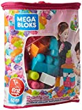 Mega Bloks Juego de construcción de 60 piezas, bolsa ecológica rosa, juguetes bebés 1...