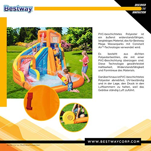 Bestway 53301 - Castillo Hinchable Acuático Turbo Splash Water Zone Mega Parque...
