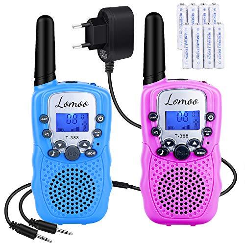 Walkie Talkie Recargable, Lomoo Radio Bidireccional con Rango de Larga Distancia...