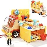 Nene Toys - Camión de Madera con Herramientas de Juguete - Juego de Construcción para...