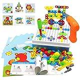 Akokie Juguetes Montessori Puzzles Rompecabezas Bloques Construccion Niños con Taladros...
