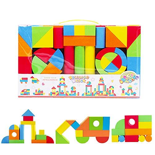 deAO Bloques de Construcción Gomaespuma Juguete para Aprendizaje Creativo Infantil...