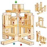 Onshine Pista de Canicas Juegos Puzzle Bloques de Construccion Madera para Niños Juguetes...
